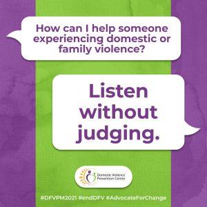 DVPM social tile: listen without judging