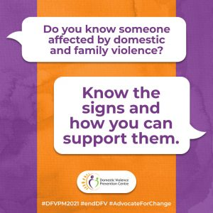 DVPM social tile: know the signs