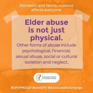 DVPM social tile: elder abuse